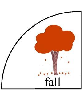 Circular Seasons and Months Chart/Calendar - Large