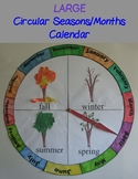Circular Seasons and Months Chart/Calendar - Large