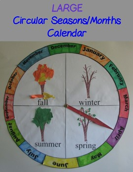 Circular Seasons and Months Chart/Calendar - Large by ... |Seasons Chart With Months
