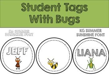 Circular Student Name Tag Labels