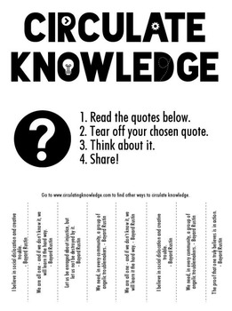 Circulate Knowledge through Tear-off Quotes