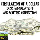 Circulation of a Dollar Bill Dice Simulation with Writing