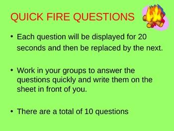 Circulation quick fire questions