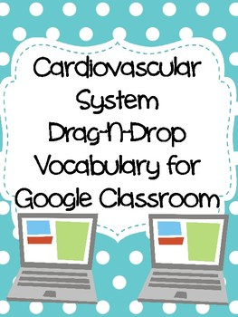 Circulatory (Cardiovascular) System Drag-n-Drop Vocab for Google Classroom