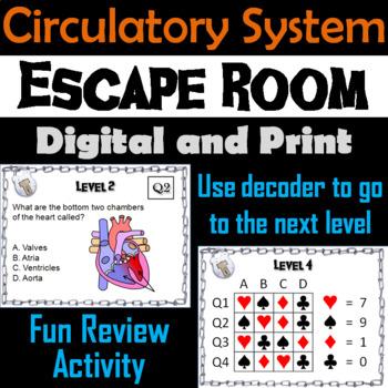 Circulatory System: Escape Room - Science: Anatomy (Human Body Activity)