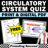FREE Circulatory System Activities Video & Quiz Human Body Systems Digtal