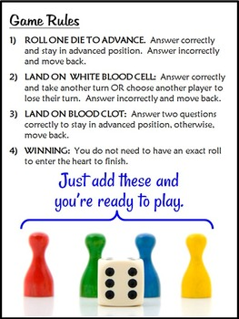 Circulatory System Game Board {FREE} - Convert Your Task Cards to a Review Game!