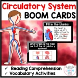 Circulatory System & Heart - BOOM CARDS™ for Distance Learning