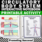 Circulatory System Activities, Human Body Systems Interactive Notebook