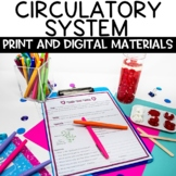 Circulatory System Nonfiction Article and Blood and Heart Rate Activity