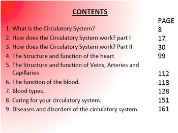Circulatory System, Powerpoint Presentation and Activities