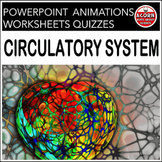 Circulatory System Powerpoint and Worksheets