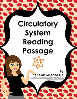 Circulatory System Reading Passage