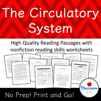 Circulatory System Reading Passages and Nonfiction Worksheets