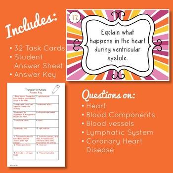 Circulatory System Task Cards (High School)