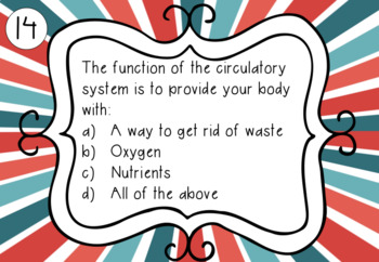 Circulatory System Task Cards (Middle School)