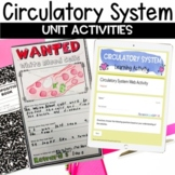 Circulatory System Unit with Nonfiction Article, Activitie