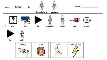 Circulatory System Visual Comprehension Quiz