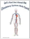 Circulatory System Webquest Scavenger Hunt Science Common Core Activity 5-8