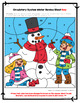 Circulatory System Winter Color by Number Editable Review Activity