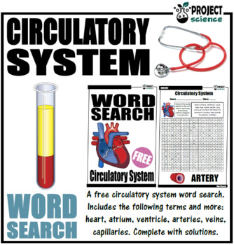 Circulatory System Word Search