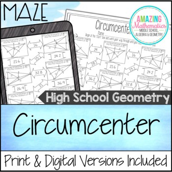 Circumcenter Maze by Amazing Mathematics | Teachers Pay Teachers