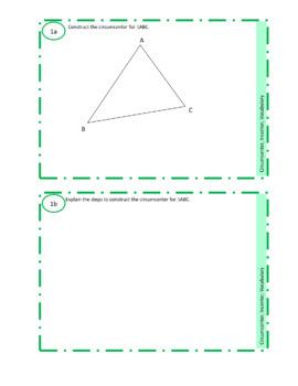 Circumcenter and Incenter Practice Constructions Crossword Vocabulary