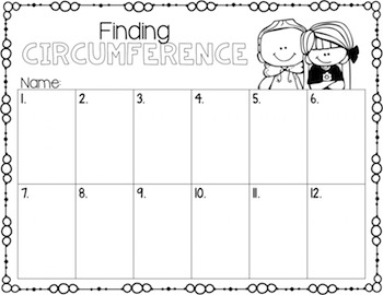 Circumference Task Cards for Centers, Review, Scoot, & Test Prep