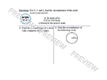 Calculating the Circumference of a Circle