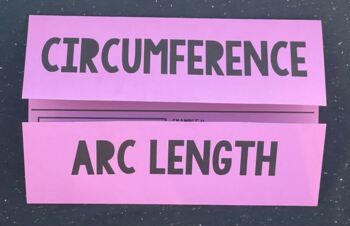 Circumference & Arc Length (Geometry Foldable)
