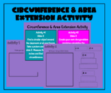 Circumference & Area Extension Activity