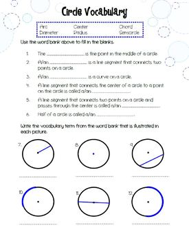 Circumference & Area of Circles Discovery and Practice Worksheets