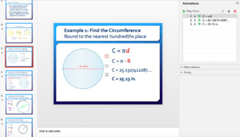 Review: Circumference, Diameter, Radius, and Pi (Day 2)