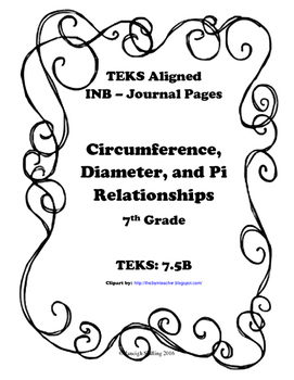 Circumference, Diameter, and Pi Relationships INB TEKS 7.5B