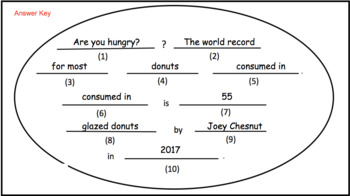 Circumference – Fill in the Blank Activity for Google Classroom