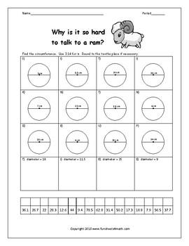 Circumference Worksheets by Funsheets4math | Teachers Pay Teachers