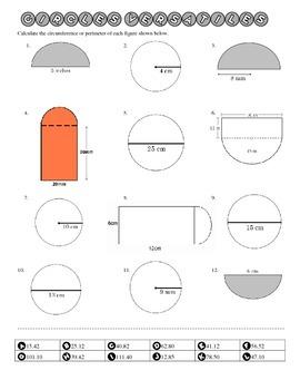 Circumference Fluency Practice