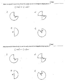 Circumference Geometry Cirlces Good for Algebra too