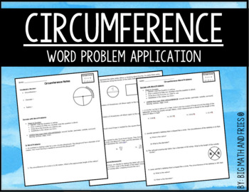 Circumference Guided Notes & Classwork/Homework Word Problems