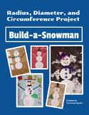 Circumference Radius Diameter Circle Winter Snowman Project Math Centers