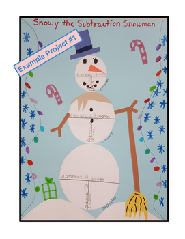 Circumference Radius Diameter Circle Winter Snowman Project Math Centers