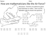 Circumference Riddle worksheet