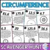 Circumference of Circles - Scavenger Hunt Activity