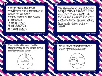 Circumference Task Cards