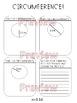 Circumference Worksheet, Homework or Quiz