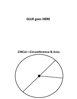 Circumference and Area Foldable