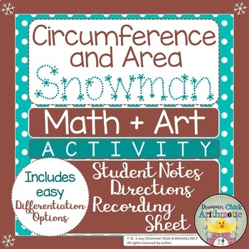 Circumference and Area Snowman Activity