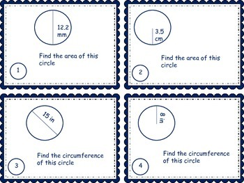 Circumference and Area Task Cards