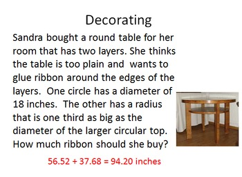 Circumference and Area of Circles Interactive Lesson