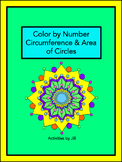 Circumference and Area of Circles Color by Number (Distanc